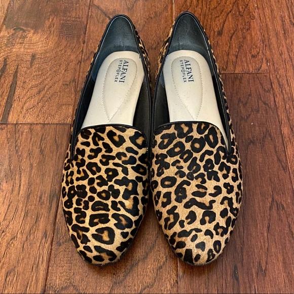 alfani leopard flats
